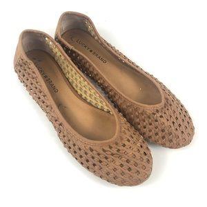 Lucky Brand Eisadora Woven Tan Boho Flats Size 9.5